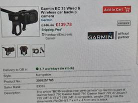 Garmin BC Wireless Camera