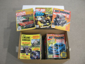 Lot of 100 old car magazines $100. for the collection  mint cond
