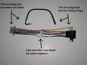 New Factory Radio Stereo Installation Delco 16140051 Wire Wiring Harness Adapter : stereo wiring harness - yogabreezes.com