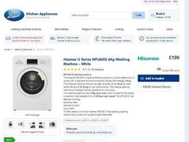 Washing Machine Hisence as new very little use