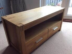 Solid Oak TV & Entertainment Unit