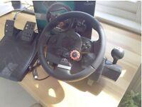 playstation driving force steering wheel, Logitech