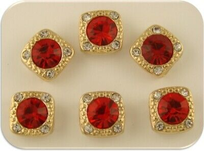 """2 Hole Beads Crystal """"GALA"""" LIGHT Red Siam Swarovski Elements ~ Sliders QTY 6 for sale  Shipping to South Africa"""