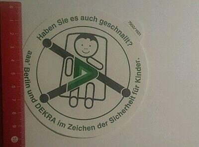 Aufkleber/Sticker: Berlin und Dekra im Zeichen der Sicherheit für  (24101613) ()