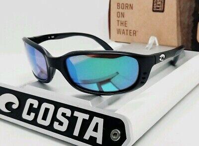 580G - COSTA DEL MAR matte black/green mirror BRINE POLARIZED sunglasses! (Costa Del Mar Brine Sunglasses)