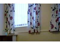 2 pairs matching lined curtains