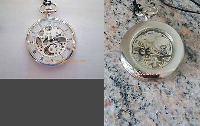 Orologio da tasca lowell carica manuale sfere azzurrate movimento a vista