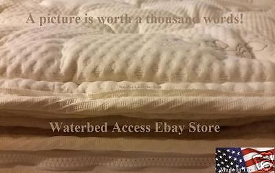 Twin Waterbed Mattress - Cotton Pillowtop Cover For Twin or Single size Softside Waterbed Mattresses