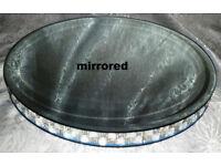 12 inch Round Mirrored Cake Stand
