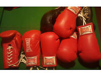 job lot boxing gloves lace up gloves everlast and thaismai muay thai old school signed fight mma