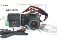 Canon EOS 60D 18.0MP Digital SLR Camera - Black (Kit w/ EF-S IS II 18-55mm Lens)