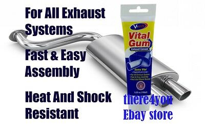 Vital Gum Exhaust Cement All Exhaust Systems Heat Shock Resistant Repair Paste