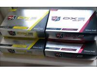 5 x Boxes Wilson DX2 Soft Golf Balls - White & Yellow