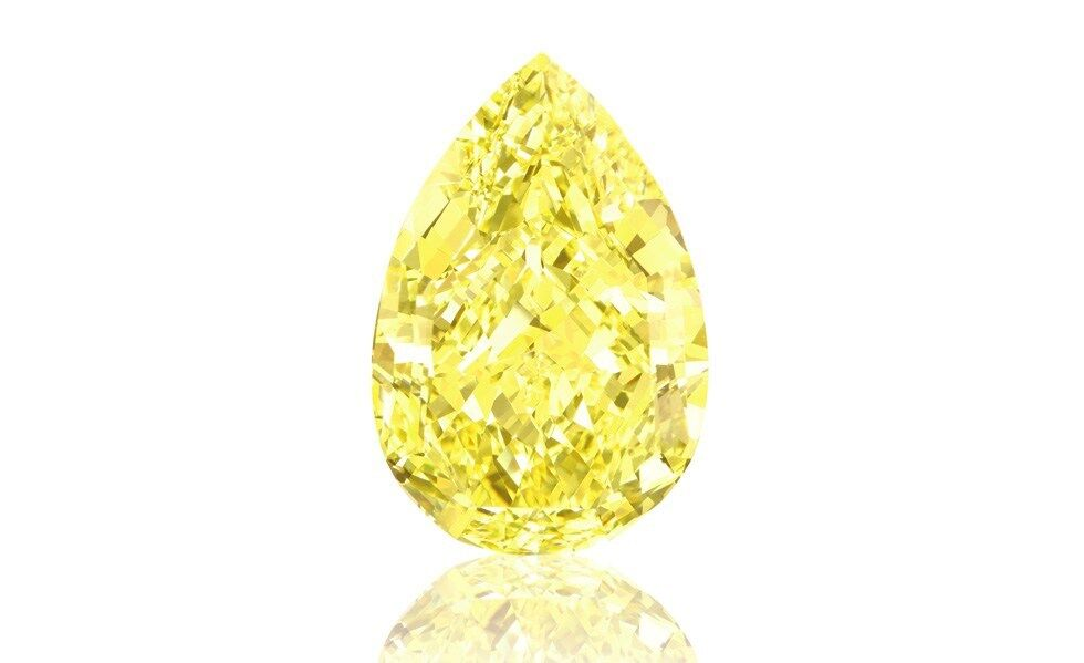 Yellow Diamond - 1.22ct IF Natural Loose Fancy Yellow GIA Flawless Pear Shape