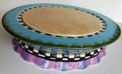 "Peggy Fairfax Herrick House Of Hatten 10"" Cake Plate Stand"