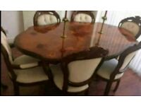 vintage French dining table & chairs