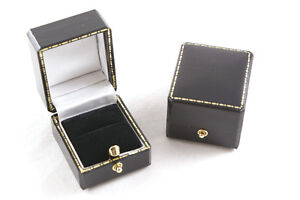 1 x Luxury Antique Style Leatherette Ring Box - Colour Choice - Free Delivery