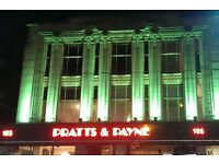 Chef De Partie at Pratts & Payne - full time - starting salary £7.5 p/h negotiable