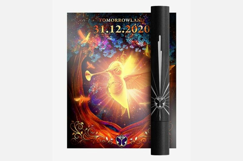 Tomorrowland New Years Package - Bracelets And Limited Edition Poster brand new