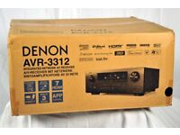 Denon AVR-3312 AV amplifier. Great Home Cinema amp. Brand new.
