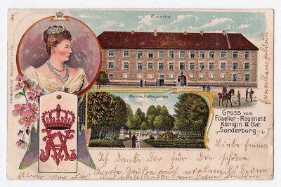Ansichtskarte Gruss vom Füselier-Regiment Königin III. Bat. Sonderburg