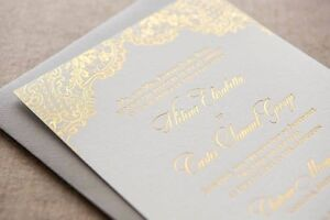 Gold Foiled Wedding Invitations - Also Silver &  Rose Gold, Wallsend Newcastle Area Preview