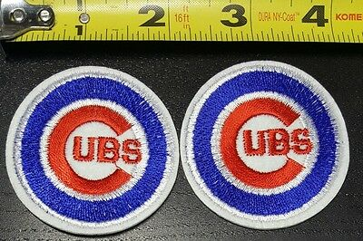 Lot Of 2 Chicago Cubs Mlb 2  Iron Sew On Patch Free Shipping From The U S