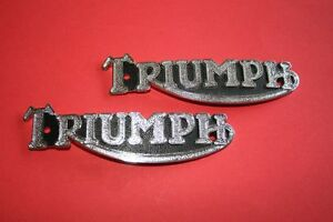 82-1823 82-3496 TRIUMPH PRE UNIT TANK BADGE NEW REPRO