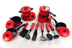 Kitchen Cooking Utensils Pots Pans Accessories Set Kids Play Childrens Toy