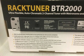 Behringer BTR2000 2-Channel Rack Tuner and Metronome WITH RACK DOWNLIGHT