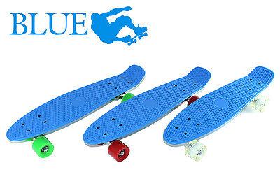 "22"" Mini Skateboard Cruiser Style Plastic Complete Deck Truck Skate Board"