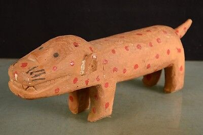 Beautiful Leopard Bright Bozo Figure Mali Africa fes-010