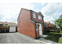 3 bedroom detached house, with 2 car drive and garage