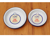 12 Falcon enamelware pie dishes