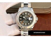 Rolex Yacht Master Rhodium Dial Silver Stainless Steel