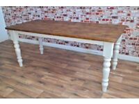 Rustic Farmhouse Reclaimed 4 ft Pine Kitchen Dining Table - Free Delivery