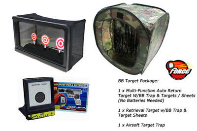 P-Force Airsoft Package Auto Return Target Retrieval Target BB Target Trap Tent
