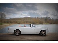 ROLLS ROYCE PHANTOM DROPHEAD HIRE FERRARI LAMBORGHINI BENTLEY WEDDINGS PROMS