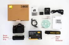 NIKON D800 DSLR Body + Battery Grip Footscray Maribyrnong Area Preview