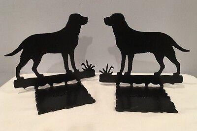 VTG Beautiful Black Wrought Iron Labrador Golden Retriever 7-1/2