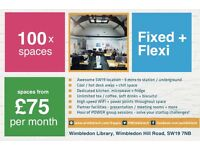 Amazing Co-Work space available in WIMBLEDON, SW19 7NB - Prices start from £75/month - Apply now!