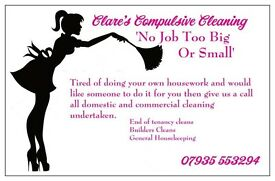 Clare's compulsive cleaning services