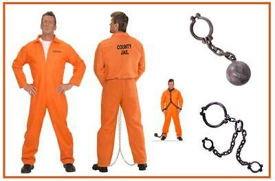 Häftling Strafgefangener Sträflingskostüm Gefangener Overall Karneval , - Häftling Kostüm