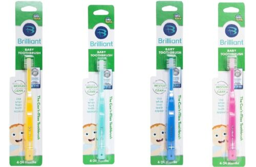 Brilliant Baby 360 Baby/Toddler Round Toothbrush (Age 4-24 months)