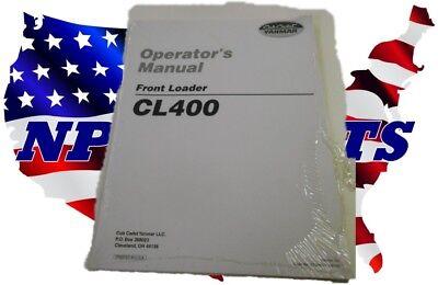 Cub Cadet Yanmar Cl400 Loader Operators Manual