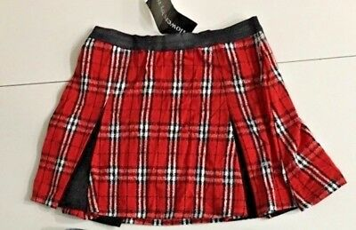 FLOWERS BY ZOE school Girls Skirt SZ L NWT tartan plaid pleated 📣 cheer - Flowers By Zoe Girls Skirt