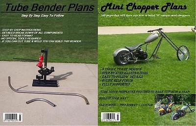 8 Mini Chopper Plans +Tube Bender Plans+Jig Plans Combo+ Retro Mini Bike Plans on Rummage