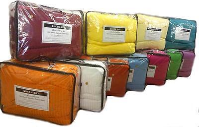 Cotton Comforter Duvet Set - Duvet Cover & Insert 2-pc Set 1800 Series Egyptian Cotton Blend Soft Comforter