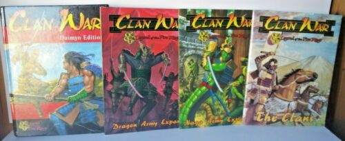 LEGEND OF THE FIVE RINGS, CLAN WAR - DAIMYO EDITION. 3 PAPERBACK / 1 BOOK LOT(4)