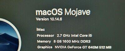 """Apple iMac 21.5"""" A1418 Late 2012  Logic board model 820-3302 CPU 2.7GHz"""